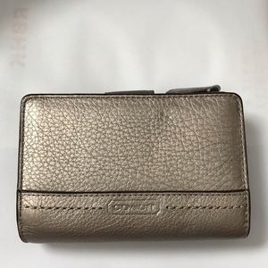 Coach Metallic Bronze Leather Wallet